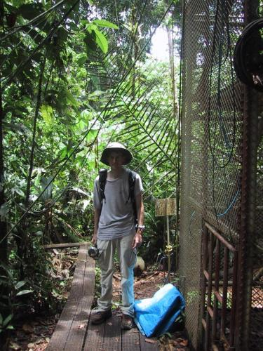 2003: Working in the rainforest of Costa Rica