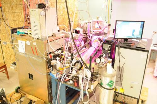 2012: Laboratory setup to study particle nucleation, Boulder, CO, USA