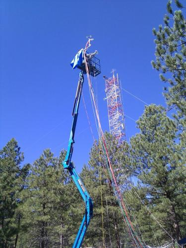 2009: The BREACHON-ROCS campaign in Colorado - setting up equipment on a flux tower